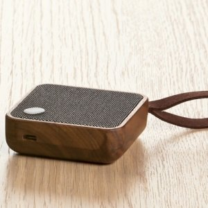Wood and Cloth Bluetooth Speaker Image 2