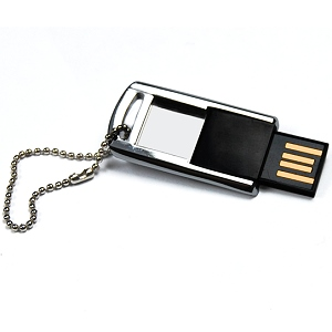 Metal Flip Open Slim COB Flash Drive