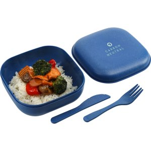 Eco-Friendly Food Container with Utensils