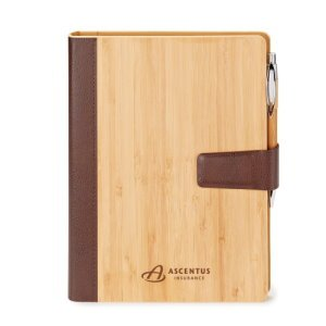 Bamboo Refillable Journal 9 x 7-1/16 -Eco Custom Notebook Image 2