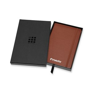 Moleskine Leather Ruled Large Notebooks Image 2