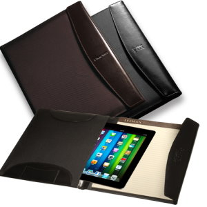 Nylon / Leather Portfolio/iPad Holder