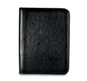 Classic Genuine Leather Zippered Padfolios