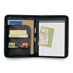 Classic Genuine Leather Zippered Padfolios Image 2