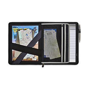 Automobile Zippered Leather Padfolio Image 2