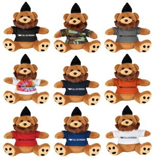 6 Plush Hipster Bear with Shirt Image 2