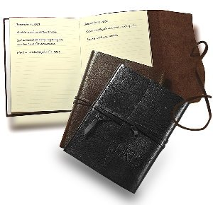 Chocolates & Leather Wrapped Journal Gift Set -Thank Clients Image 2