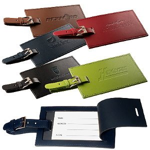 Two Leather Luggage Tag Set Image 2