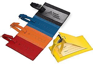 Acccent Leather Luggage Tag Set Image 2