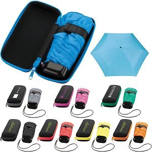 Compact Promotional Umbrellas in Zippered Carry Cases Image 2