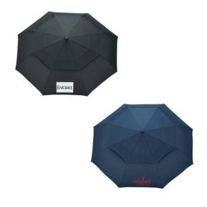 Woodgrain Handle Auto Open/Close Vented Umbrellas Image 2