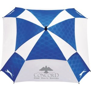 60 Cube Pattern Custom Golf Umbrella - Corporate Gifts Image 2