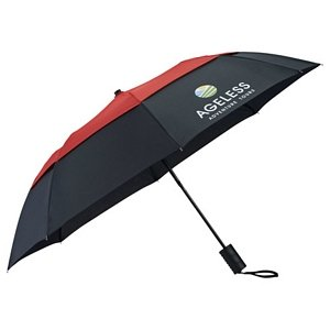 42 Vented Windproof Umbrella - Custom Printed Panel Image 2