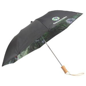 Forest Pattern Auto Open Folding Umbrellas -Unique Gift Image 2