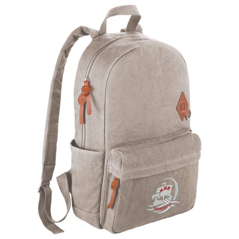 Basic Cotton Computer Backpack