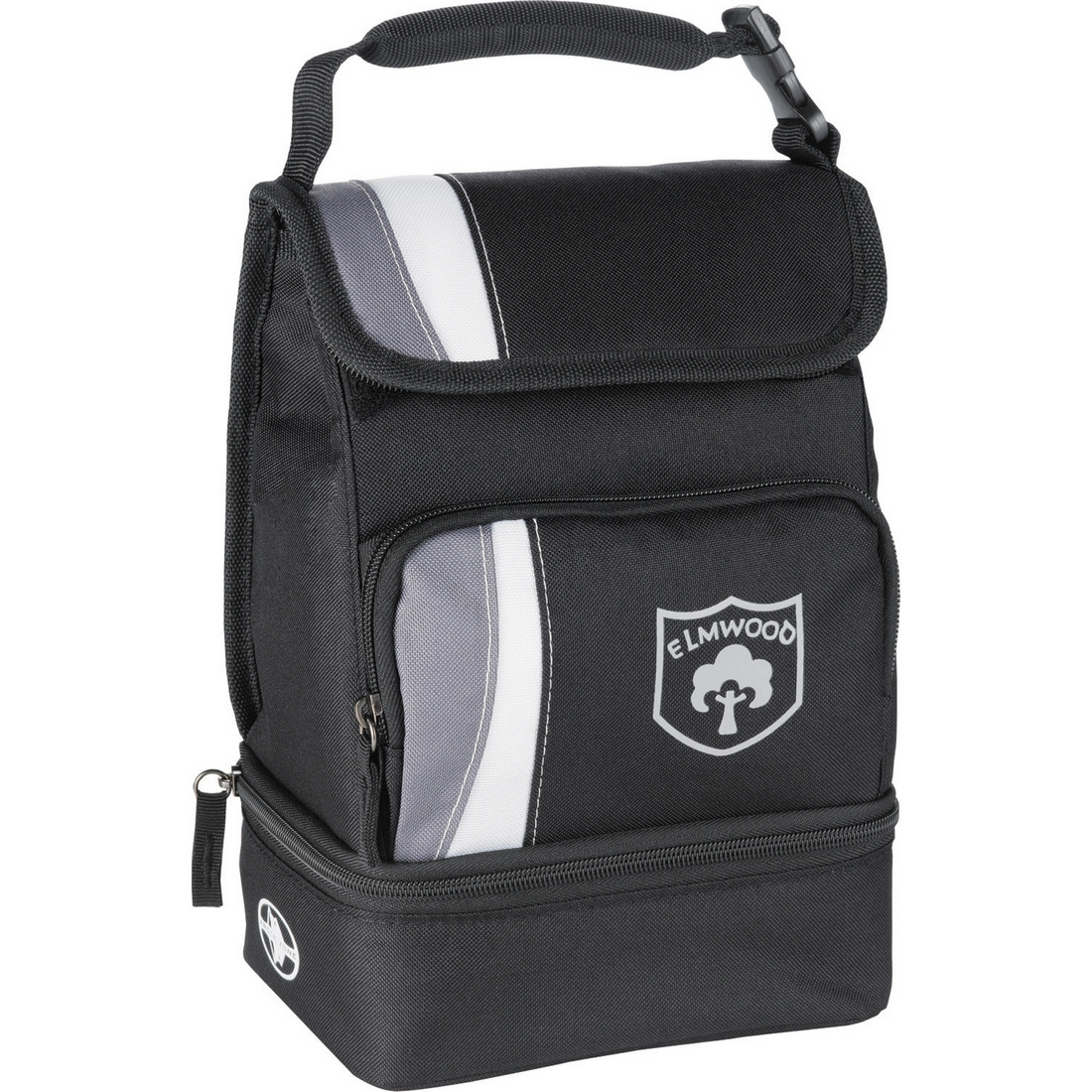 Dual Compartment Zippered Lunch Cooler