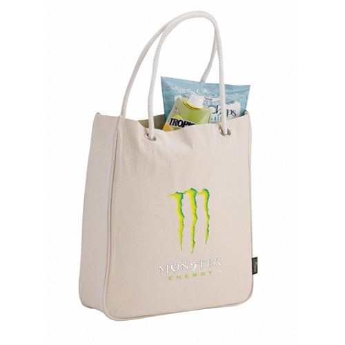 Rope Handle Promotional Tote - Cotton Bags Customized