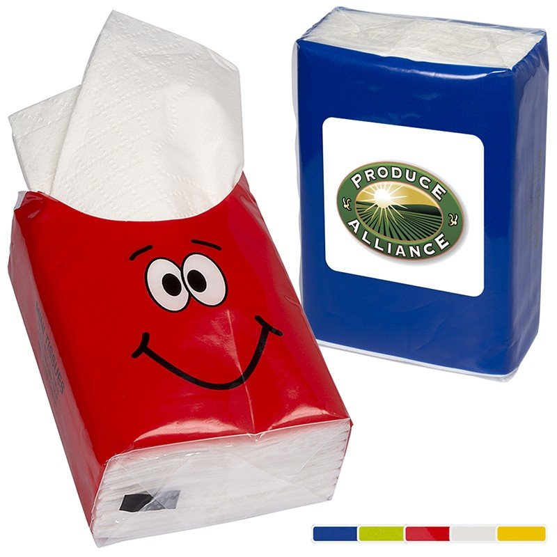 Fun Faces Mini Tissue Packets