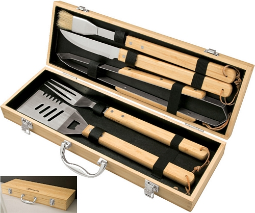 5 pc Bamboo BBQ Set