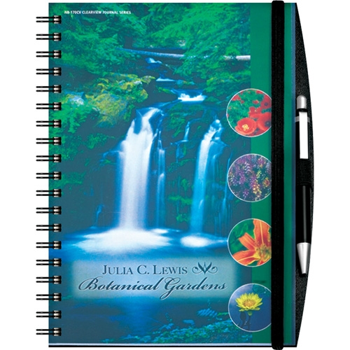 7.75 x 10 Reveal Large Journal - Colorful Corporate Gift