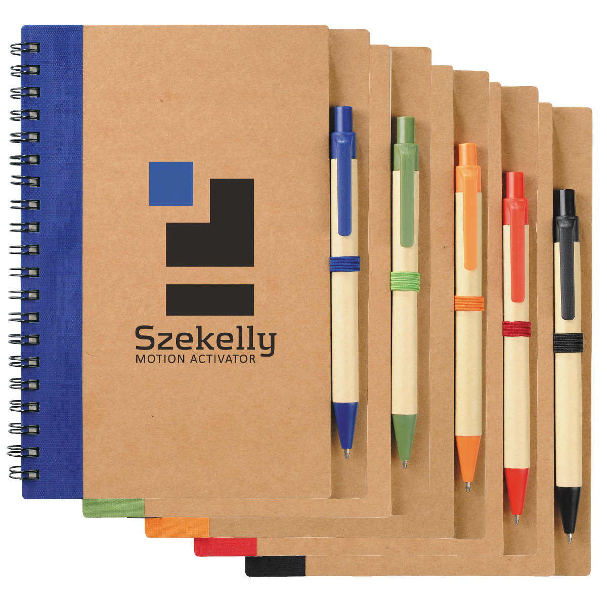 Recycled Custom Notebook & Pen Set