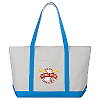 Zippered Custom Cotton Boat Tote