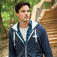 Mens Fashion Full Zip Hoodies