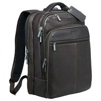 Kenneth Cole Leather TSA Compu-Backpack