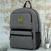 Downtown Heather Dual Pocket Backpacks