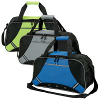 Reflective Safety Strips Sport Duffel - Promotional Bag