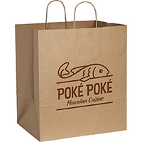 Large Custom Printed Kraft Paper Bags