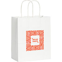 Small Custom Printed White Kraft Paper Bags
