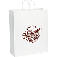 Jumbo Custom Printed White Kraft Paper Bags