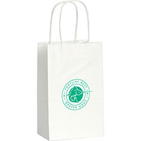 Mini Custom Printed White Kraft Paper Bags