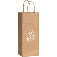 Wine Custom Printed Kraft Paper Bags