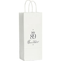 Wine Custom Printed White Kraft Paper Bags