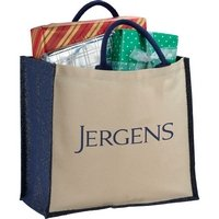 Cotton and Jute Metallic Shopping Tote