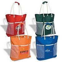 Seaside Tote Bag Printed with Logo -Custom Business Gift.