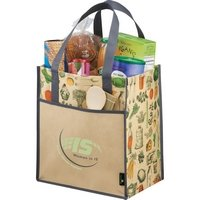 Matte Laminated Vintage Big Grocery Tote