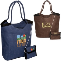 Jute Tote with Wallet