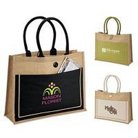 Natural Jute Tote -Promotional Item -Business Gift -Custom