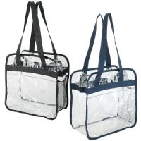 Clear Stadium Tote - Large Front Pocket