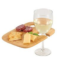Bamboo 2-piece Wine Plate Set