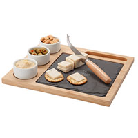 6 Piece Bamboo/Slate Cheese Sets