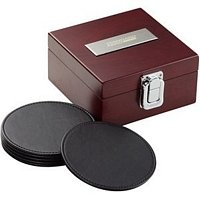 6 Coasters w/ Wooden Case