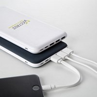 Giant Soft Rubberized 3 Port Power Bank