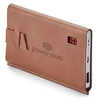 Debossed Leather Power Bank
