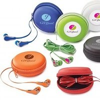 Fun Colors Flat Cord Earbuds