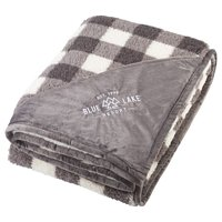 Plush Sherpa Plaid Blankets