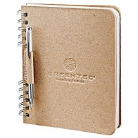 6 x 7.5 Eco Custom Notebook Recycled Cardboard - Deboss Logo